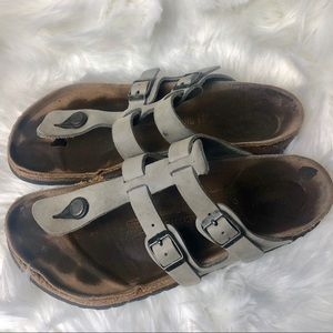 Birkenstock Grey Strap Sandal Size 10